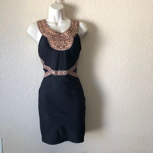 Free People Nefertiti Embellished Mini Dress Sz 0